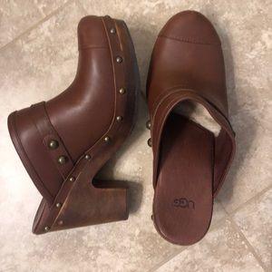 Ugg clogs with wood heel